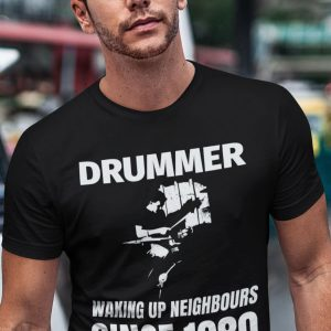 40th Birthday Gift Drummer T-Shirt 1980