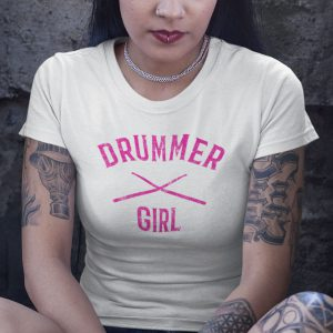 Drummer Girl white T-Shirt