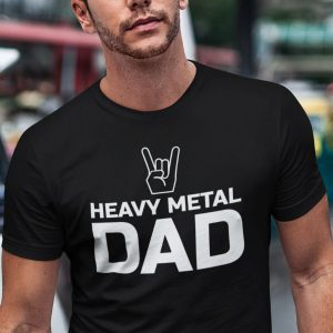 Heavy metal dad t-shirt