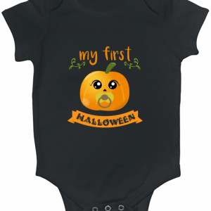 My first Halloween Pumpkin Birthday Gift Baby Bodysuit