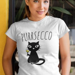 Funny Prosecco And Cats Purrsecco T-Shirt