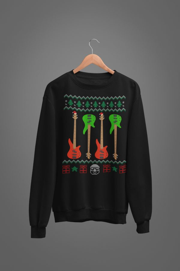 Ugly Sweater Christmas Bass Guitar Sweatshirt