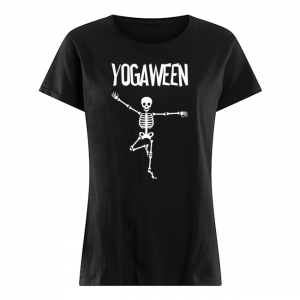 Halloween Yoga Skeleton Tree Pose T-Shirt