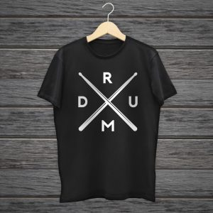 crossed drumsticks t-shirt for drummer