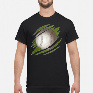 Ripped Baseball T-Shirt Graphic